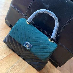 Handbags - Chanel teo-tone handle